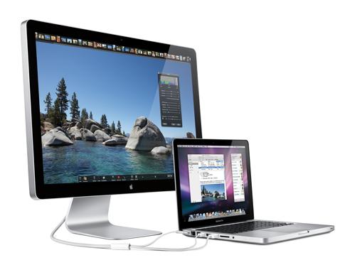 MacBook og Cinema Display