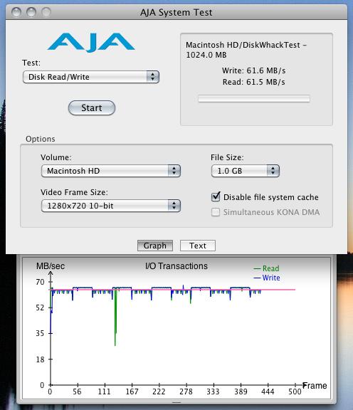 AJA System Test Original Fujitsu 160GB 5400rpm Harddisk