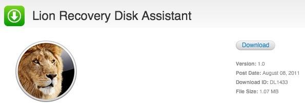 Nytt Apple-verktøy for Lion Recovery partisjon