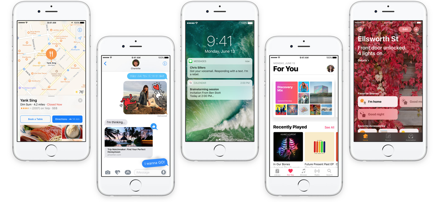 Apple lanserer iOS 10