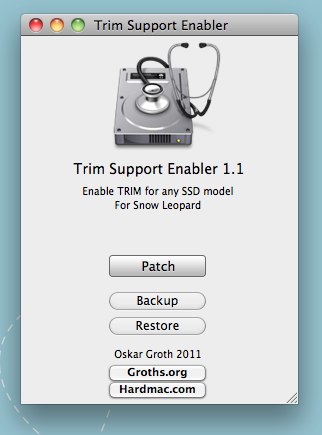 TRIM til SSD