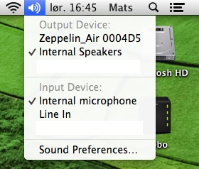 Stream lyd over AirPlay enkelt i Mountain Lion