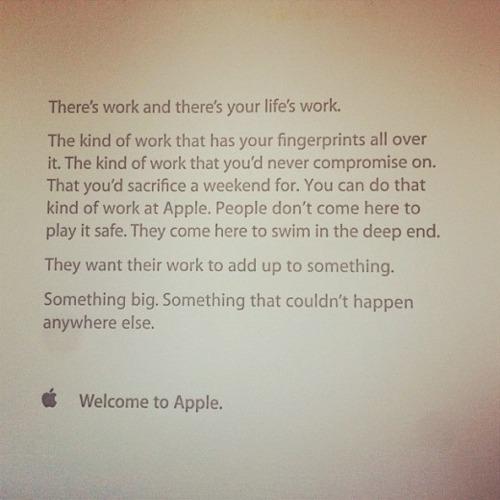 Apples motivasjon til nye ansatte