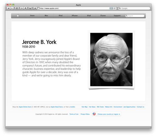 Apple rydder forsiden av Apple.com