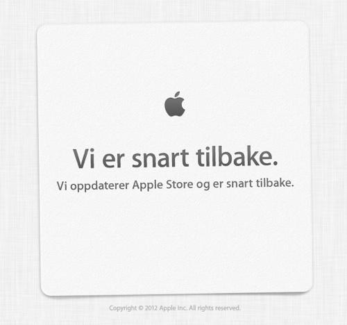 Apple Store er nå nede