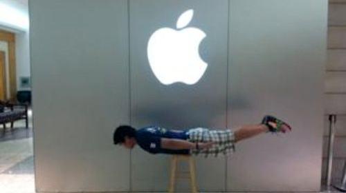 Apple Store planking