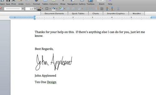 Skriv signaturen rett på MacBooken