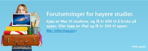 Apple med Back-to-school tilbud