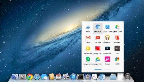 Google med App Launcher til OS X