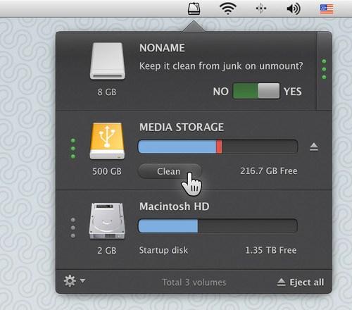 Rydd opp i eksterne disker med CleanMyDrive