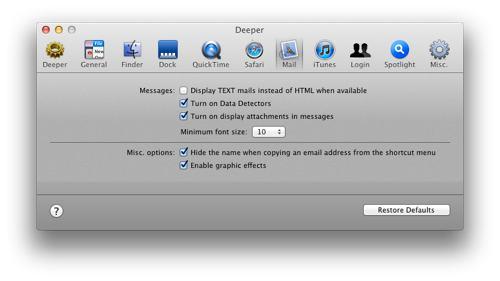Gå dypt ned i OS X med Deeper