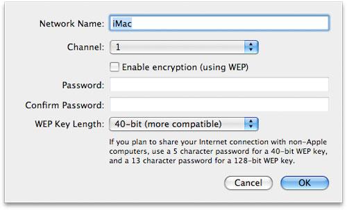Slik deler du internett på Mac OS X