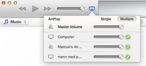 iTunes 11 og AirPlay