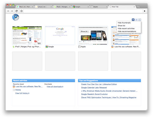 Google Chrome snart klar til Mac?