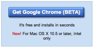 Google Chrome endelig lansert til Mac