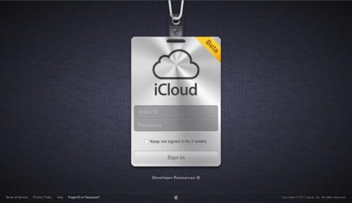 iCloud er i beta