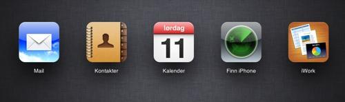 iCloud på norsk