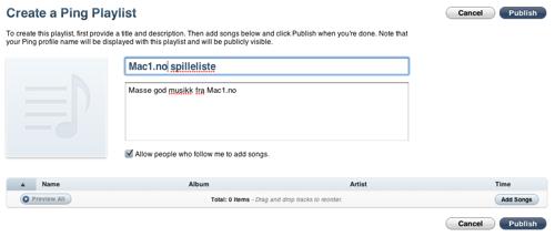 iTunes spillelister