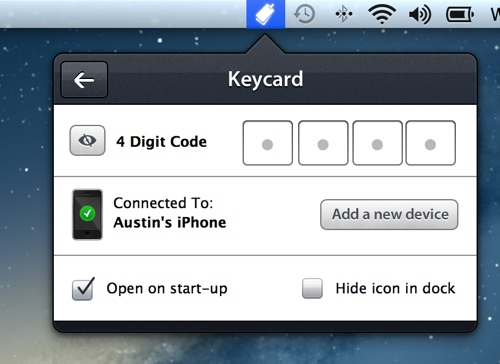 Lås Macen over Bluetooth med Keycard