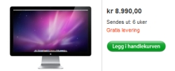 Apple LED Cinema-skjerm 27 kan nå bestilles