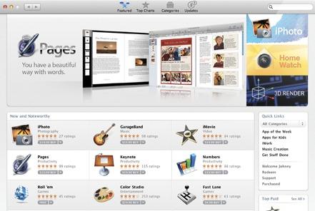 App Store kommer til Mac OS X