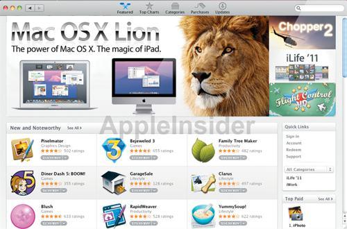 Løven distribueres på Mac App Store?