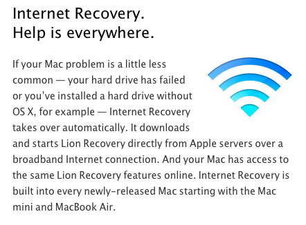 Internet Recovery