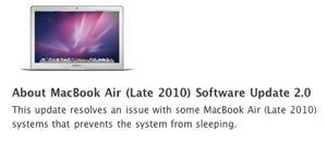 Macbook Air oppdateringer