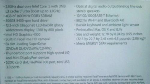 Er dette spesifikasjonene på ny MacBook Pro 13?