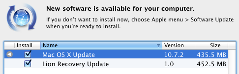 Apple slipper Mac OS X 10.7.2