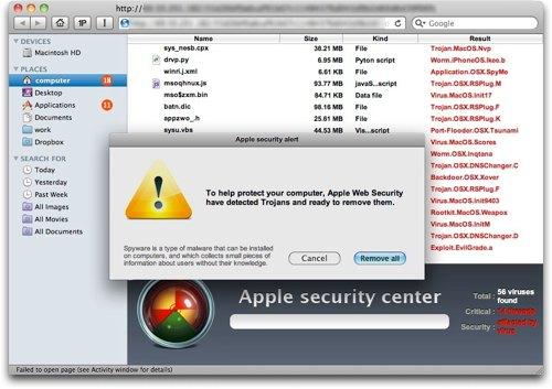 Apple lover trojaner-oppdatering i Mac OS X