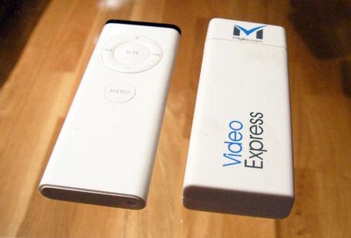 Miglia VideoExpress i forhold til Apple Remote