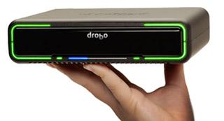 Drobo med to nye Thunderbolt disker