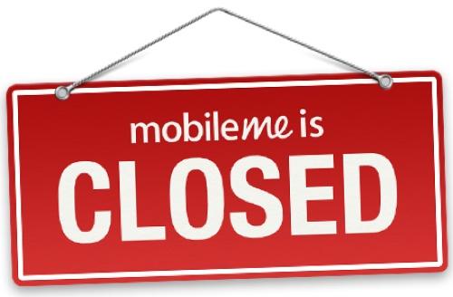 MobileMe Stengt