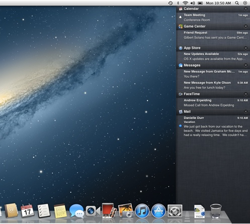 Notifications i Mountain Lion