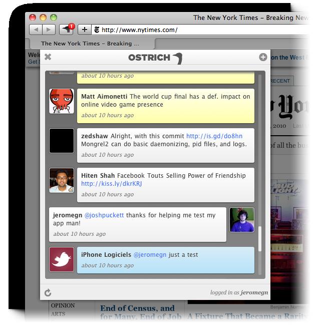 Twitter i Safari