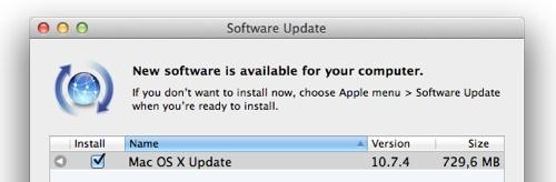 OS X 10.7.4 er her