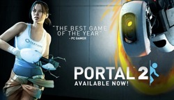 Portal 2 ute i Steam