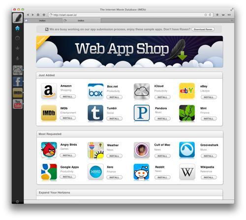 Raven WebApp Store