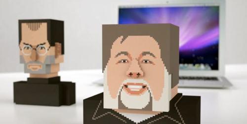 Byste av Steve Jobs og Wozniak