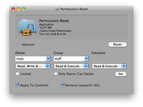 Permissions Reset