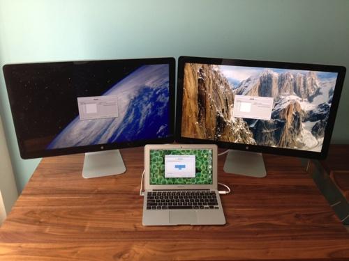 Tre skjermer