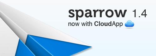 Sparrow integrerer Cloud.app for vedlegg