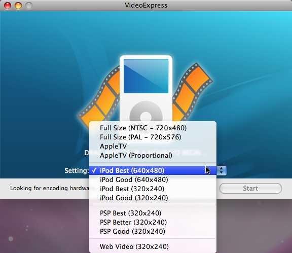 VideoExpress programvaren