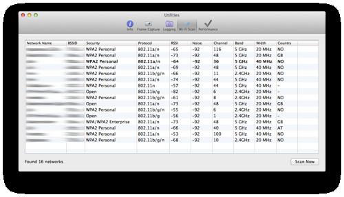 Wifi Scanner til OS X