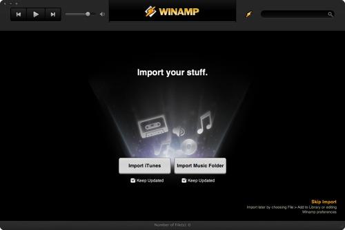 WinAmp klar på Mac